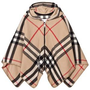 Burberry Girls Coats and jackets Beige New Classic Check Vickie Vicky Cape