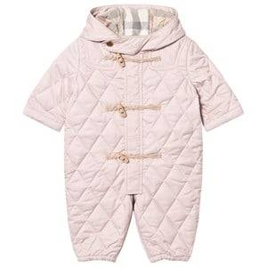 Burberry Girls All in ones Pink Pale Pink Quilted Keeper Snowsuit