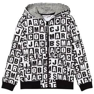 Little Marc Jacobs Boys Jumpers and knitwear Black Black and White All Over Branded Hoody