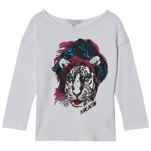 Little Marc Jacobs Girls Tops White White Tiger Print Tee