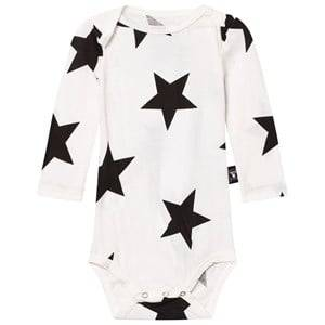 NUNUNU Unisex All in ones White Star Baby Body White