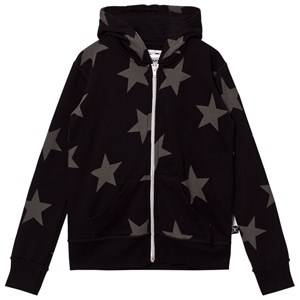 NUNUNU Unisex Jumpers and knitwear Black Star Zip Hoodie Black