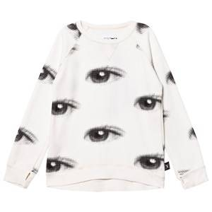 NUNUNU Unisex Jumpers and knitwear White Eye Sweatshirt White
