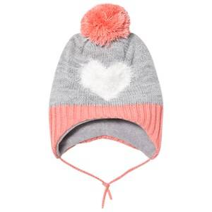 Barts Girls Headwear Grey Heart Milkyway Inka Beanie Grey/Pink