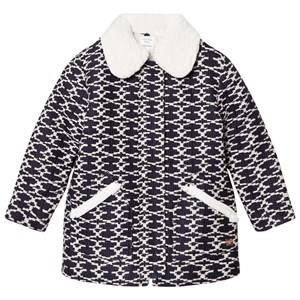 Carrément Beau Girls Coats and jackets Navy Navy/White Padded Coat