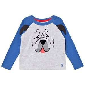 Tom Joule Boys Tops Grey Grey Pug Applique Long Sleeve Tee