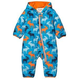 Hatley Boys Coveralls Blue Blue Moose Puffer Coverall