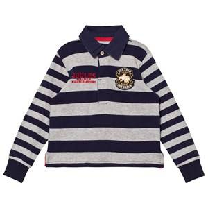 Tom Joule Boys Tops Navy Navy and Grey Branded Rugby Sweater