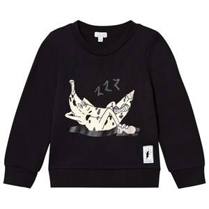 Civiliants Unisex Jumpers and knitwear Black Banana Print Sweater Black