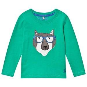 Tom Joule Boys Tops Green Green Wolf Applique Tee