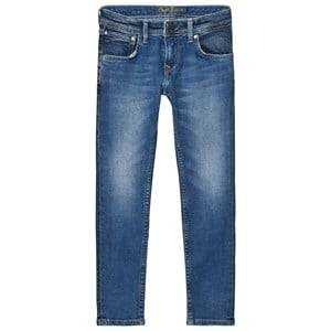 Pepe Jeans Boys Bottoms Blue Blue Mid Wash Finlay Skinny Jeans