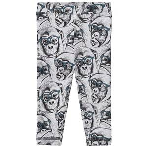 Petit by Sofie Schnoor Unisex Bottoms Grey Leggings Monkey Grey Melange