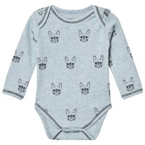 Petit by Sofie Schnoor Unisex All in ones Grey Baby Body Long Sleeve Bulldog