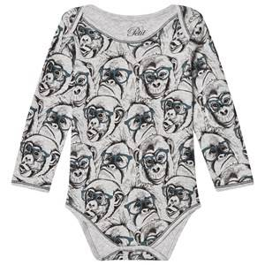 Petit by Sofie Schnoor Unisex All in ones Grey Baby Body Monkey Grey Melange