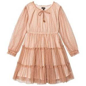 Velveteen Girls Dresses Pink Corinne Tiered Dress Cinnamon