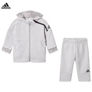 adidas Performance Boys Clothing sets Grey Infants Zone Hoodie Sweatpants Set Grey
