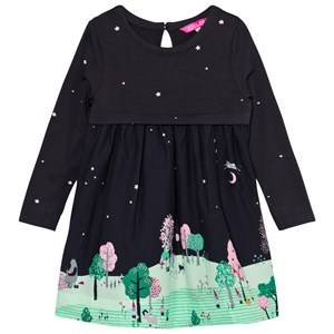 Tom Joule Girls Dresses Navy Merrie Countryside Scene Dress