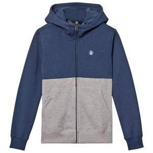 Volcom Boys Jumpers and knitwear Blue Blue and Grey Small Logo Hoodie