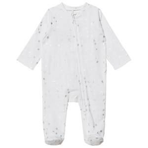 Aden + Anais Unisex All in ones White White Silver Star Metallic Footed Baby Body