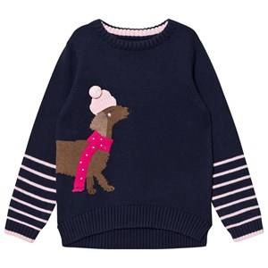 Tom Joule Girls Jumpers and knitwear Navy Navy Sausage Dog Intarsia Knit Jumper
