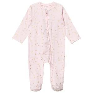 Aden + Anais Unisex All in ones Pink Pale Pink Footed Baby Body Gold Star Metallic