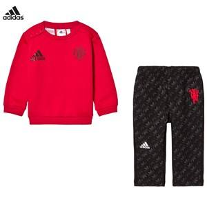 adidas Performance Boys Clothing sets Red Man U Infant Sweater and Sweatpants Set