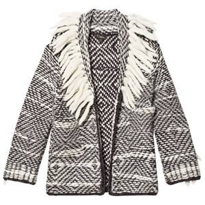 Velveteen Girls Coats and jackets Grey Cecilia Fringe Cardigan Grey