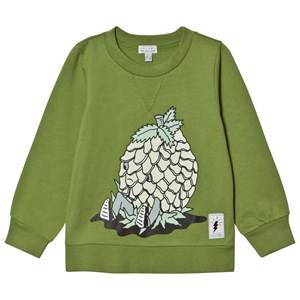 Civiliants Unisex Jumpers and knitwear Green Pineapple Print Sweater Green