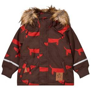 Mini Rodini Unisex Coats and jackets Brown K2 Dog Parka Brown