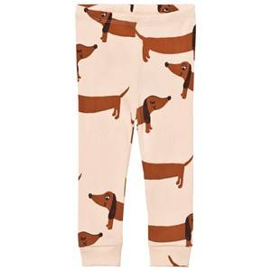 Mini Rodini Unisex Bottoms Beige Dog Leggings Beige