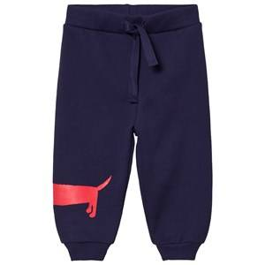 Mini Rodini Unisex Bottoms Blue Dog Sweatpants Navy