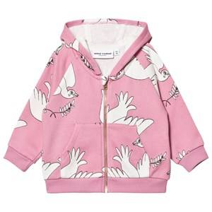 Mini Rodini Unisex Jumpers and knitwear Pink Peace Zip Hood Pink