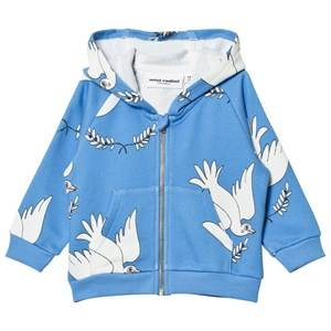 Mini Rodini Unisex Jumpers and knitwear Blue Peace Zip Hood Blue