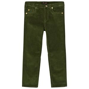 Mini Rodini Unisex Bottoms Green Corduroy Pants Tiger Fit Dark Green