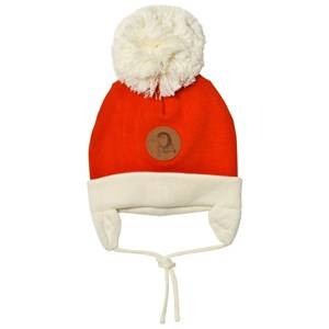 Mini Rodini Unisex Headwear Red Penguin Baby Hat Red
