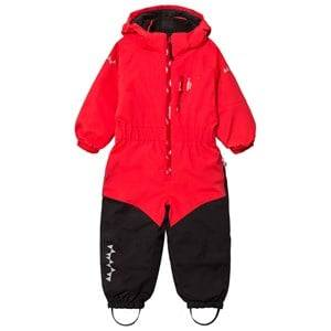 Isbjörn Of Sweden Unisex Coveralls Red Penguin Snowsuit Red