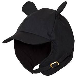 Mini Rodini Unisex Headwear Black Alaska Ear Cap Black
