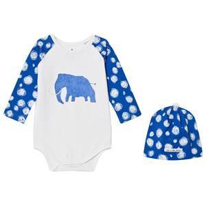 Noe & Zoe Berlin Boys Clothing sets Blue Blue Mammoth Hat and Baby Body Gift Set