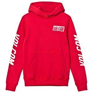 Volcom Boys Jumpers and knitwear Red Red Supply Stone Branded Arms Pull Over Hoodie