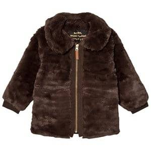 Mini Rodini Unisex Coats and jackets Brown Faux Fur Jacket Brown