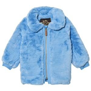 Mini Rodini Unisex Coats and jackets Blue Faux Fur Jacket Light Blue