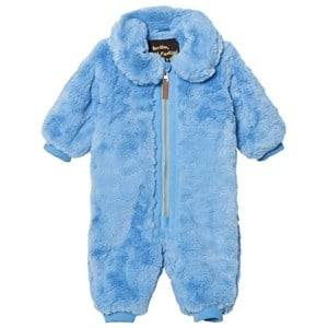 Mini Rodini Unisex Coveralls Blue Faux Fur Baby Coverall Light Blue