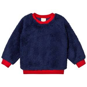 Mini Rodini Unisex Jumpers and knitwear Blue Pile Sweater Blue