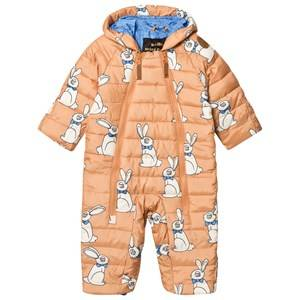 Mini Rodini Unisex Coveralls Beige Rabbit Insulator Baby Coverall Beige