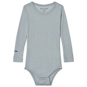 Mini A Ture Boys All in ones Blue Ellis Baby Body Light Blue