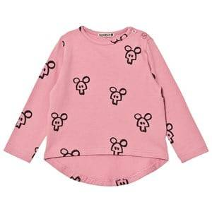 Koolabah Girls Tops Pink Pink Mouse In Da House Long Sleeve Tee