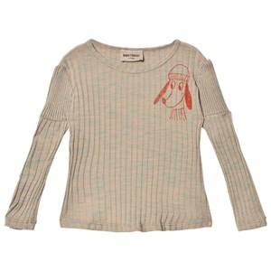 Bobo Choses Girls Tops Beige T-Shirt Loup De Mer