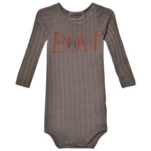 Bobo Choses Unisex All in ones Brown Baby Body Bow