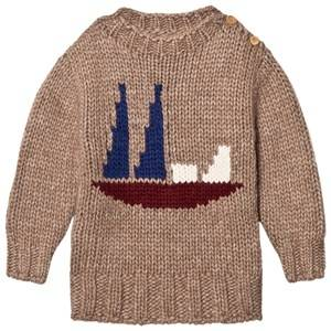Bobo Choses Unisex Jumpers and knitwear Boat Intarsia Knitted Sweater