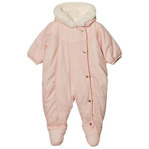 Carrément Beau Girls All in ones Pink Pale Pink Padded Hooded Coverall
